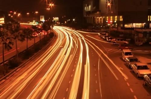 fotografia nocturna de exposición prolongada