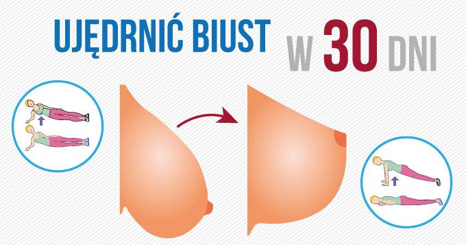 Jak ujędrnić biust zaledwie w 30dni ?! Mix 4 ćwiczeń- wyzwanie dla kobiet.