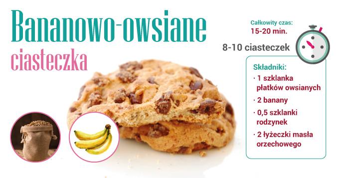 Bananowo-owsiane ciasteczka