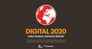 دراسة عن استخدام الإنترنت والشبكات الاجتماعية والجوال في الربع الأول من عام 2020