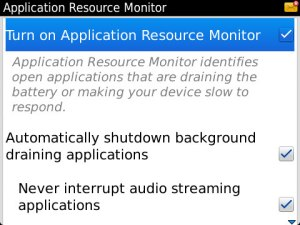 Application Resource Monitor