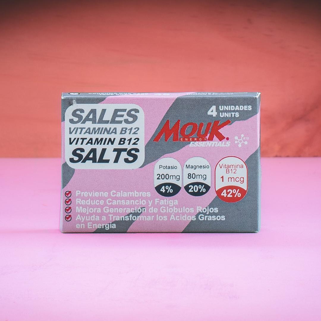 Sales MouK ESSENTIALS B12 4u. Magnesio, Potasio y Vitamina B12.