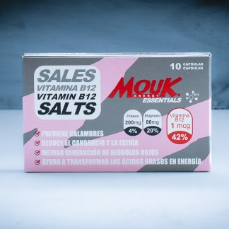 Sales MouK ESSENTIALS B12 10u. Magnesio, Potasio y Vitamina B12.