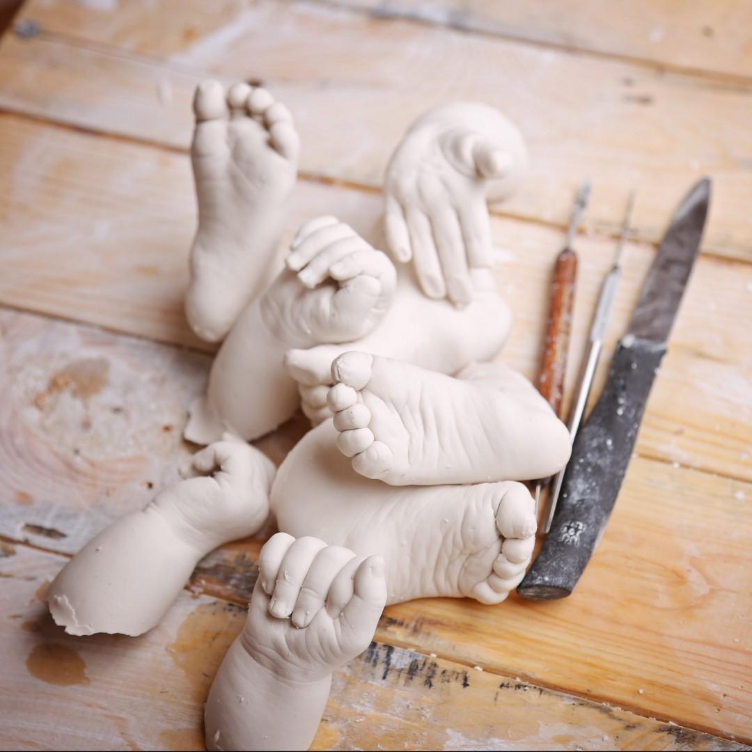 moulage pied main bebe empreinte en