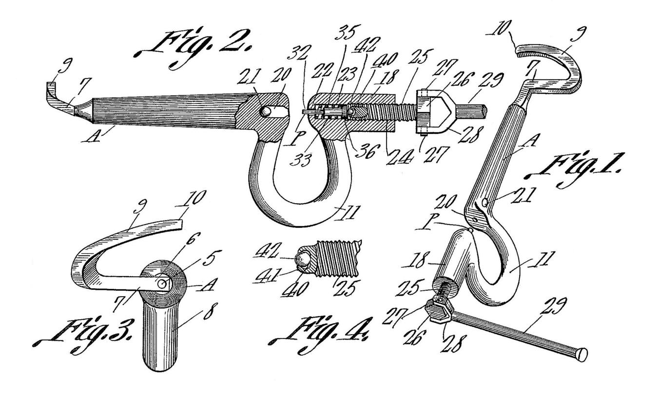 Charles O Mckinney And Luther Perry Patent Rivet