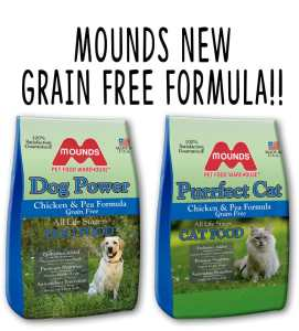 Picture of Mounds Dog Power Grain Free and Mounds Purrfect Cat Grain Free