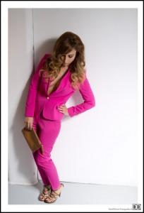 Roze dames pak