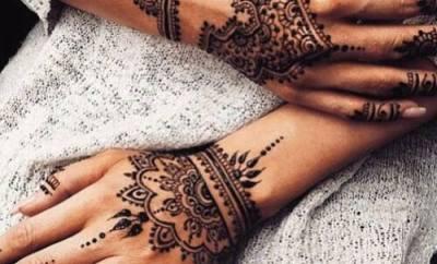 henna tattoo modern