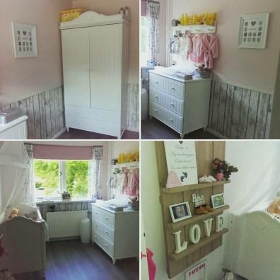baby kamer roze met wit