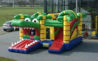 springkussen krokodil amsterdam