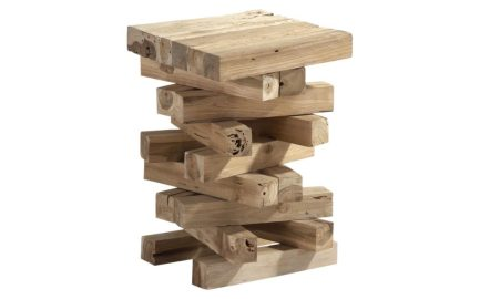 tafeltje hout 4 kante plankjes