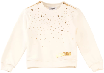 MOSCHINO GIRLS SWEATER OFFWHITE NEUTRAAL