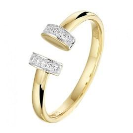 gouden ring open bovenkant