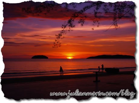 Sunset at Tanjung Aru Beach