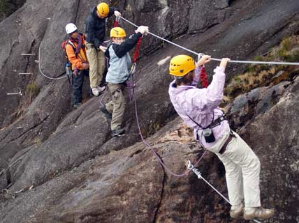 Via ferrata on Mount Kinabalu