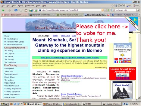Vote for Mount Kinabalu Borneo.com!