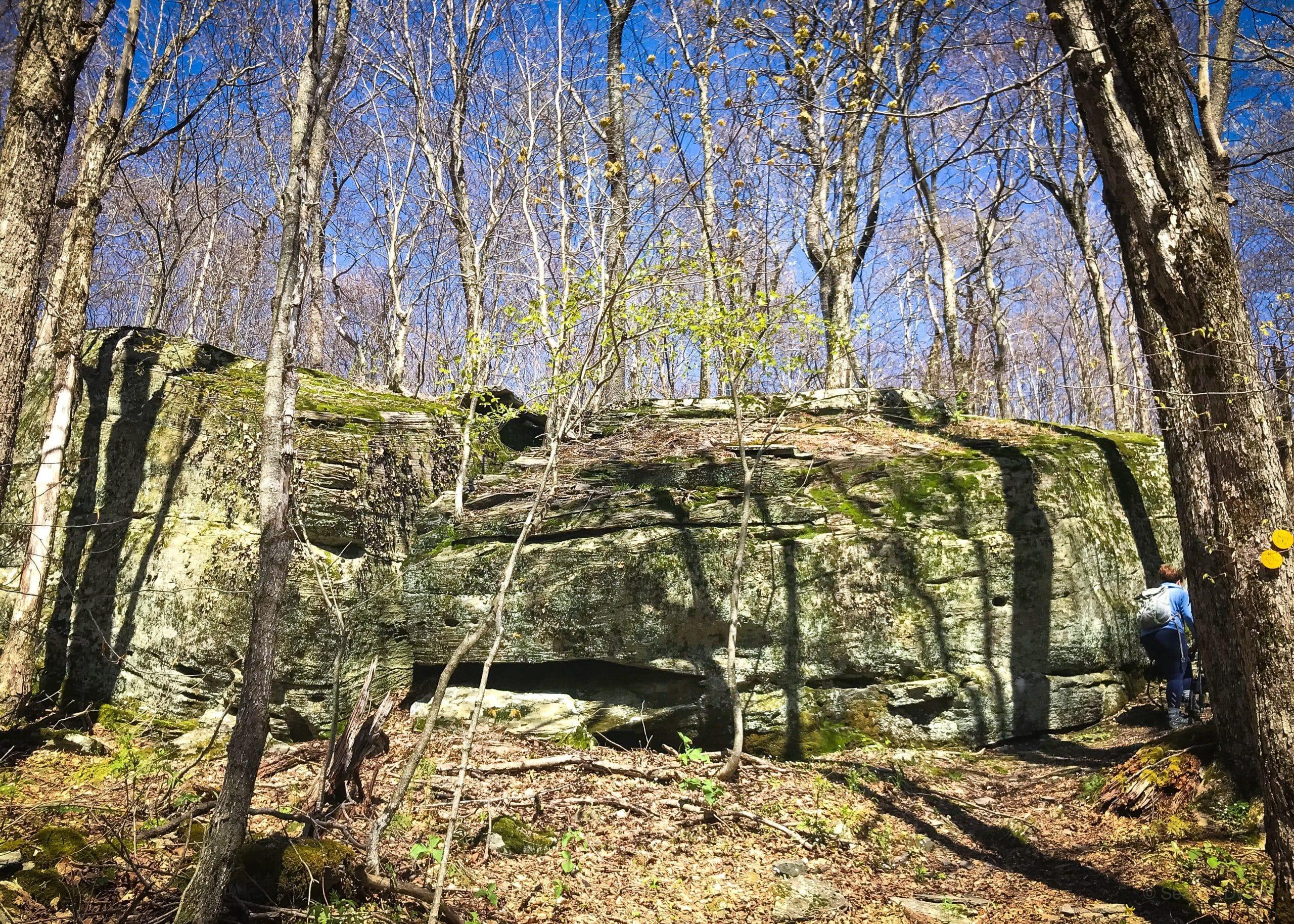 Rock Ledge in Mine Hollow