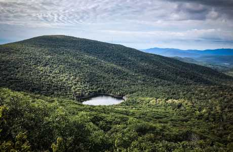 Echo Lake and Overlook Mountain from Plattekill Mountain