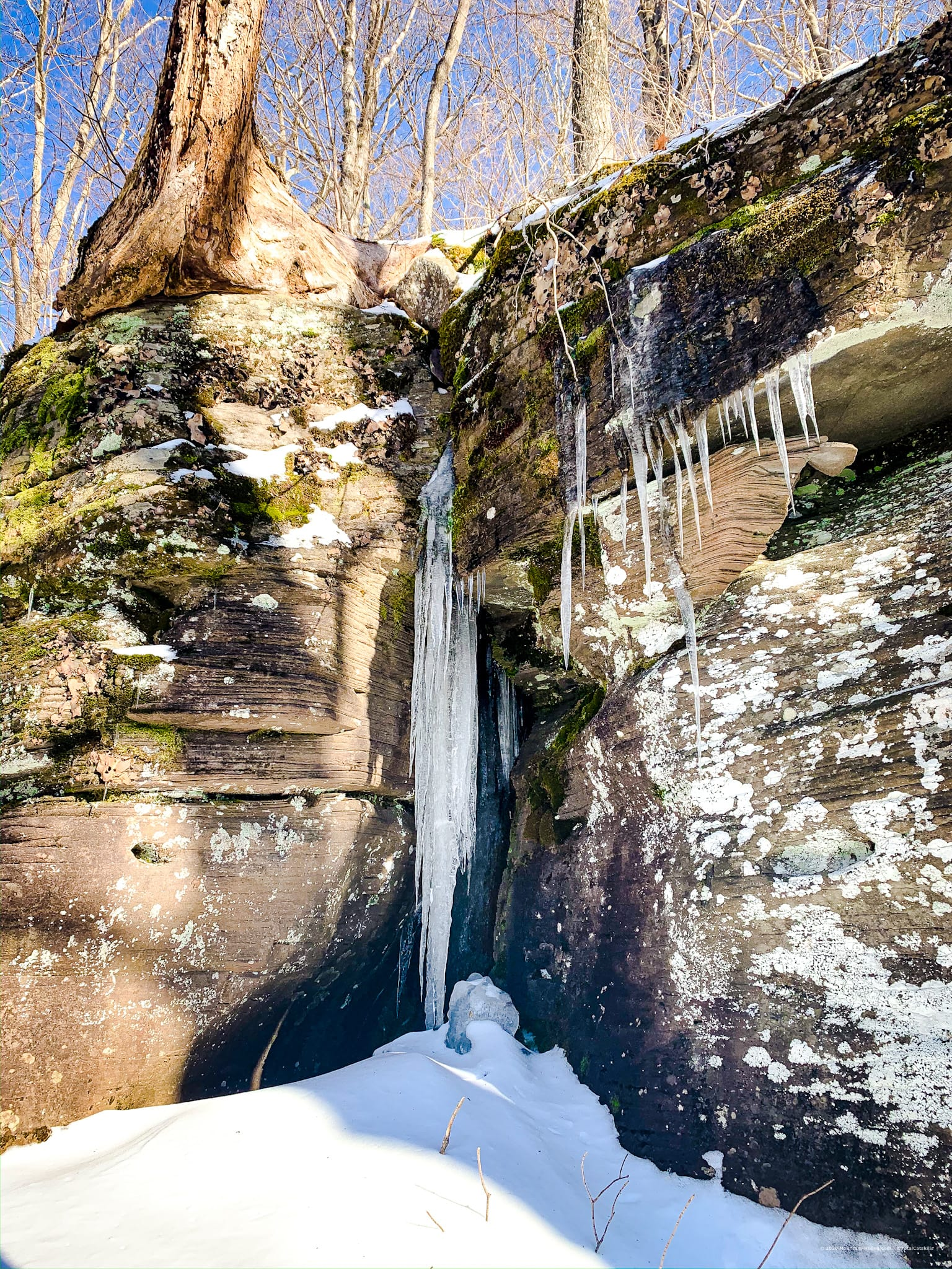 rocks, icicles