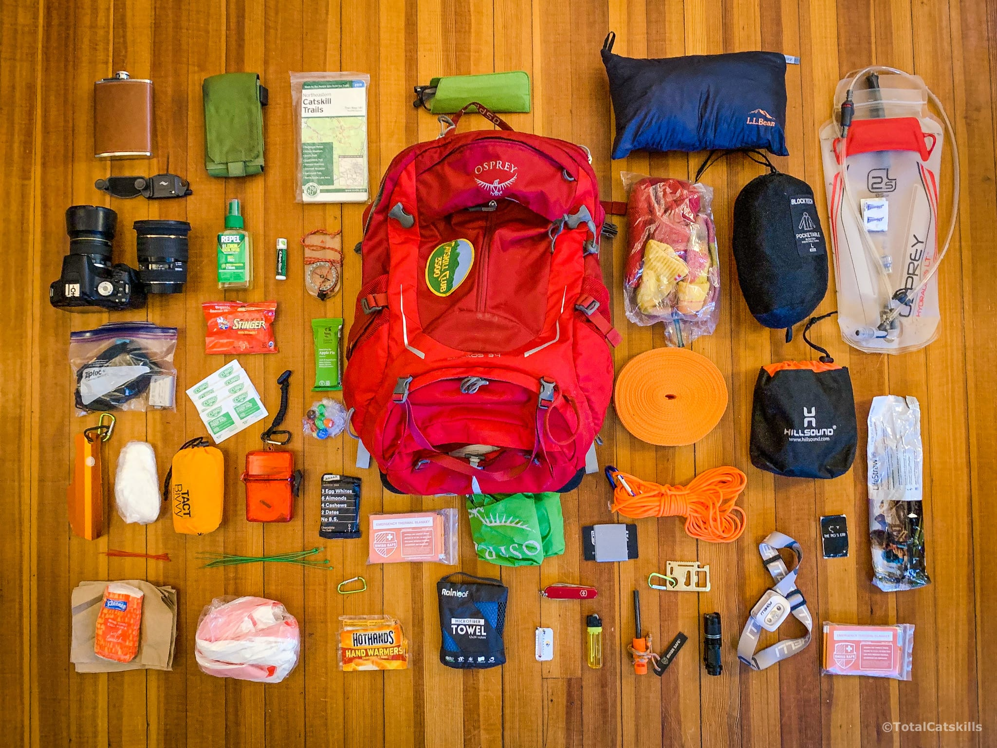 unpacked backpack