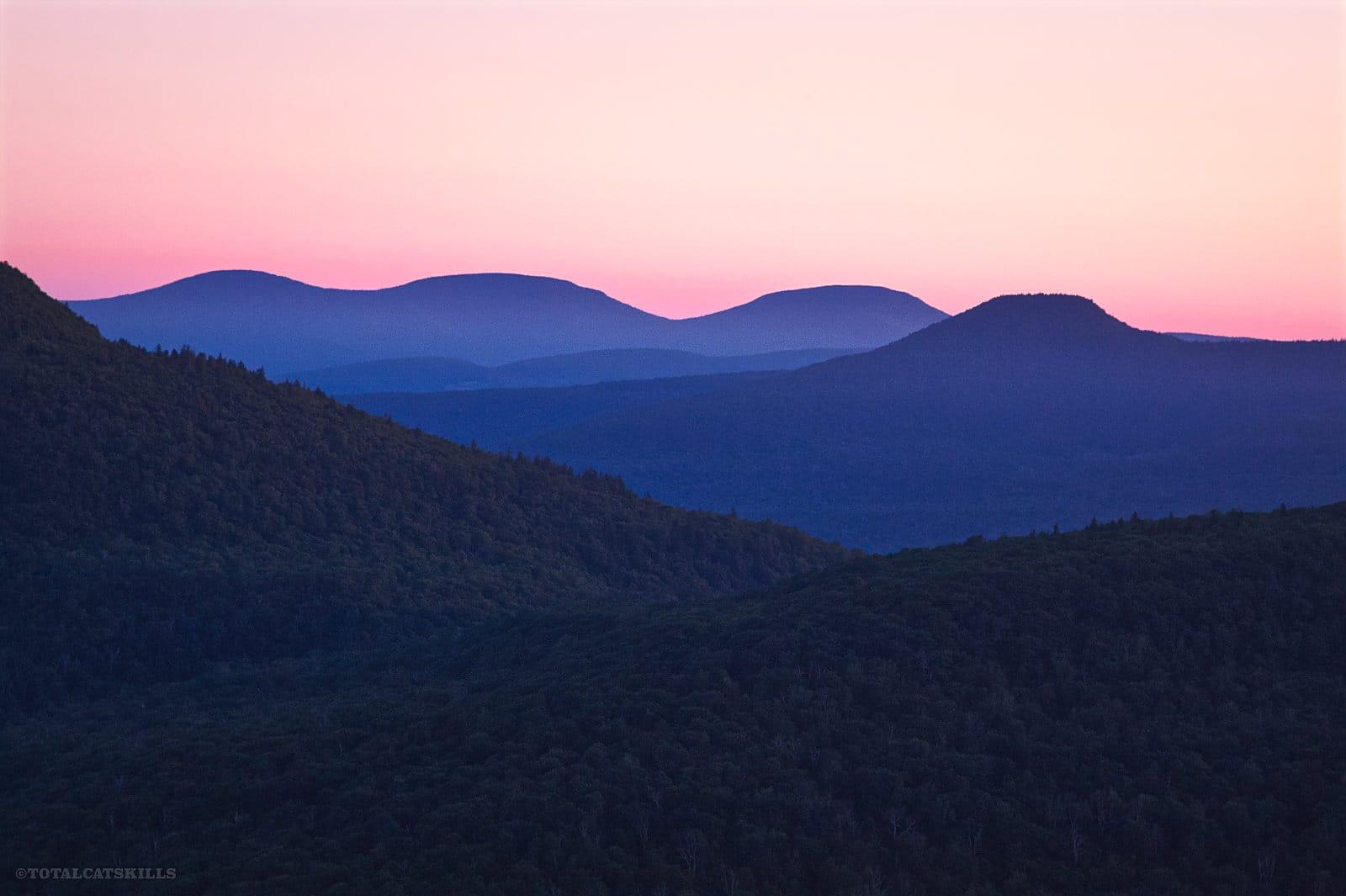 pre-dawn mountain peaks