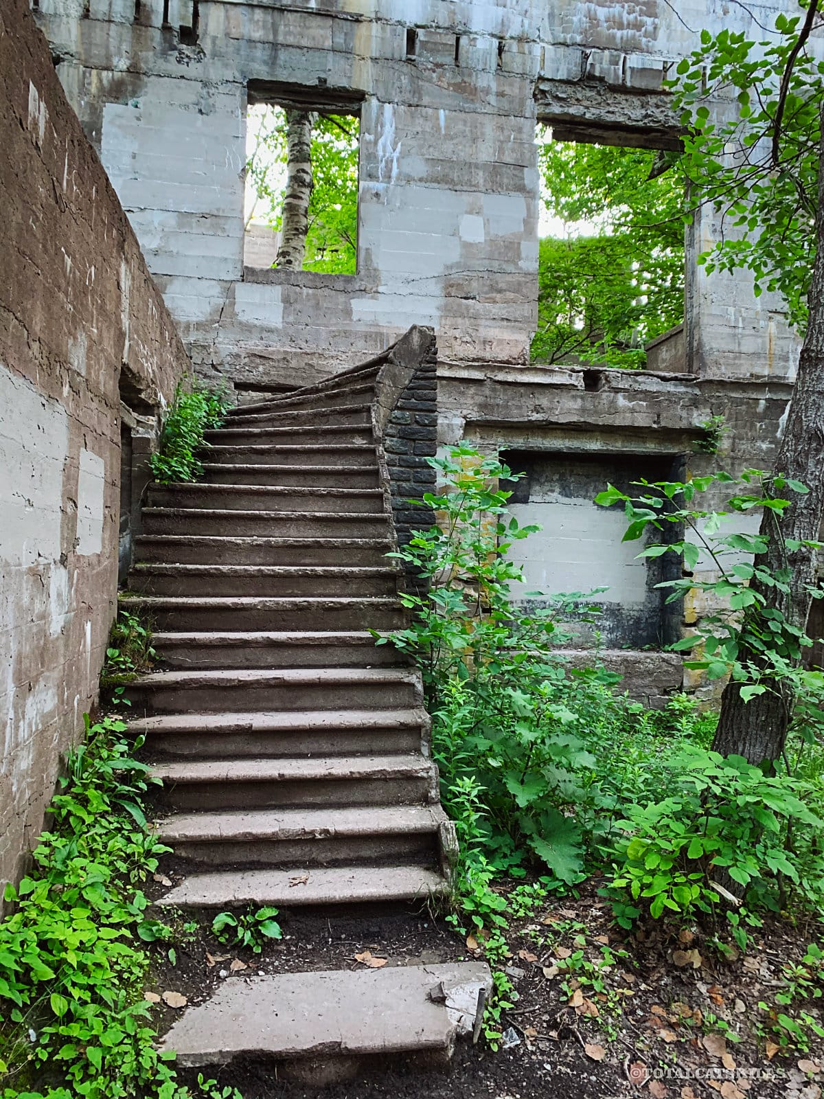staircase in ruins
