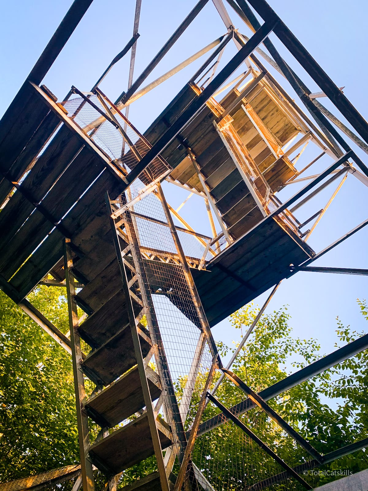 fire tower seen from the bottom