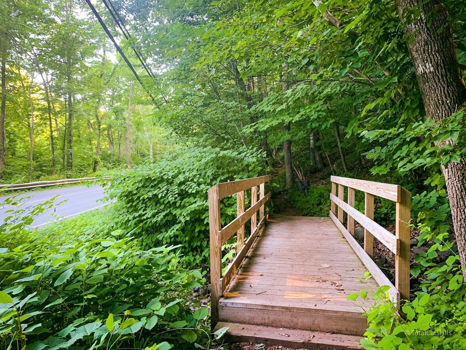 footbridge by roadside