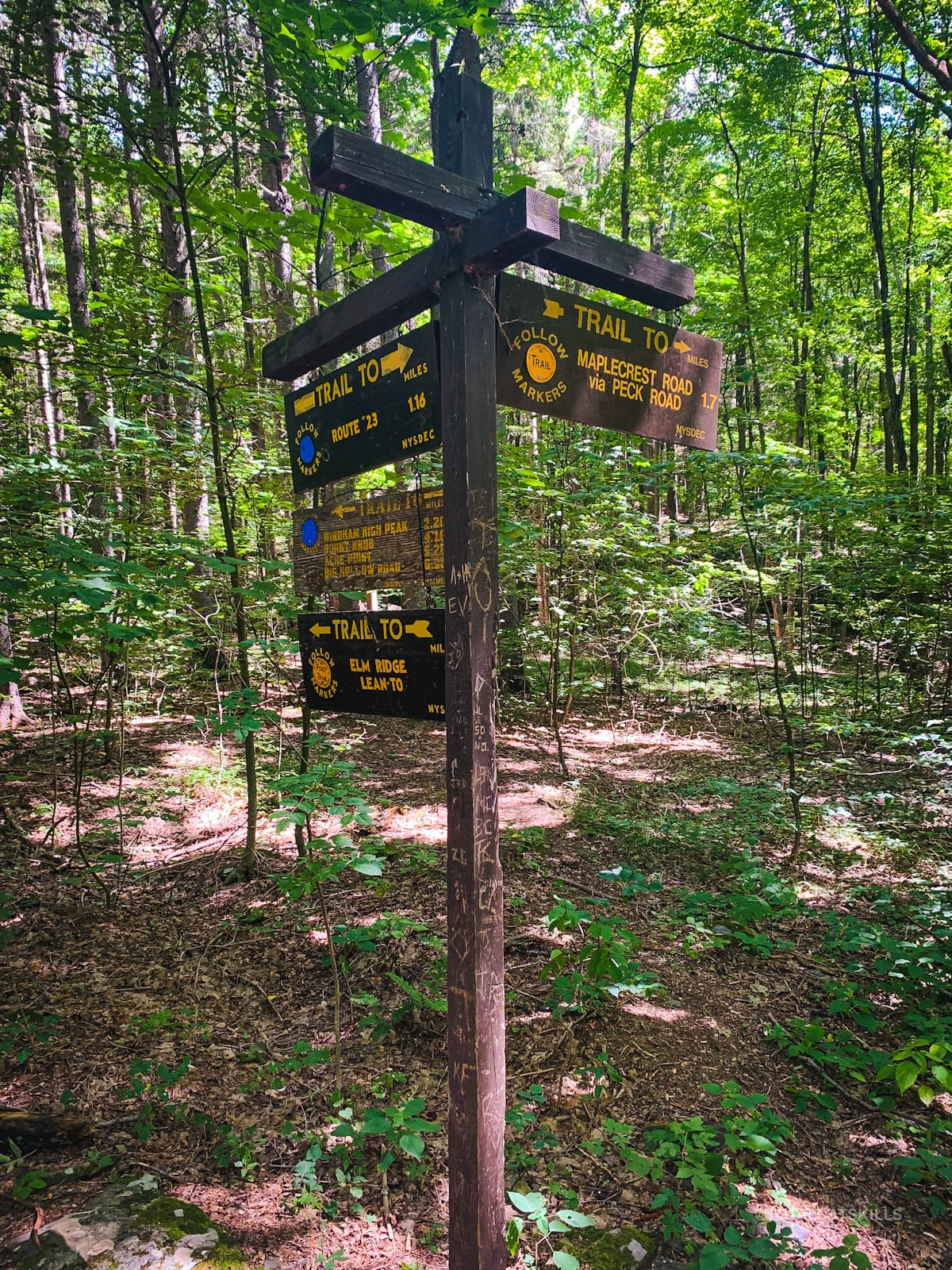 trail sign posts