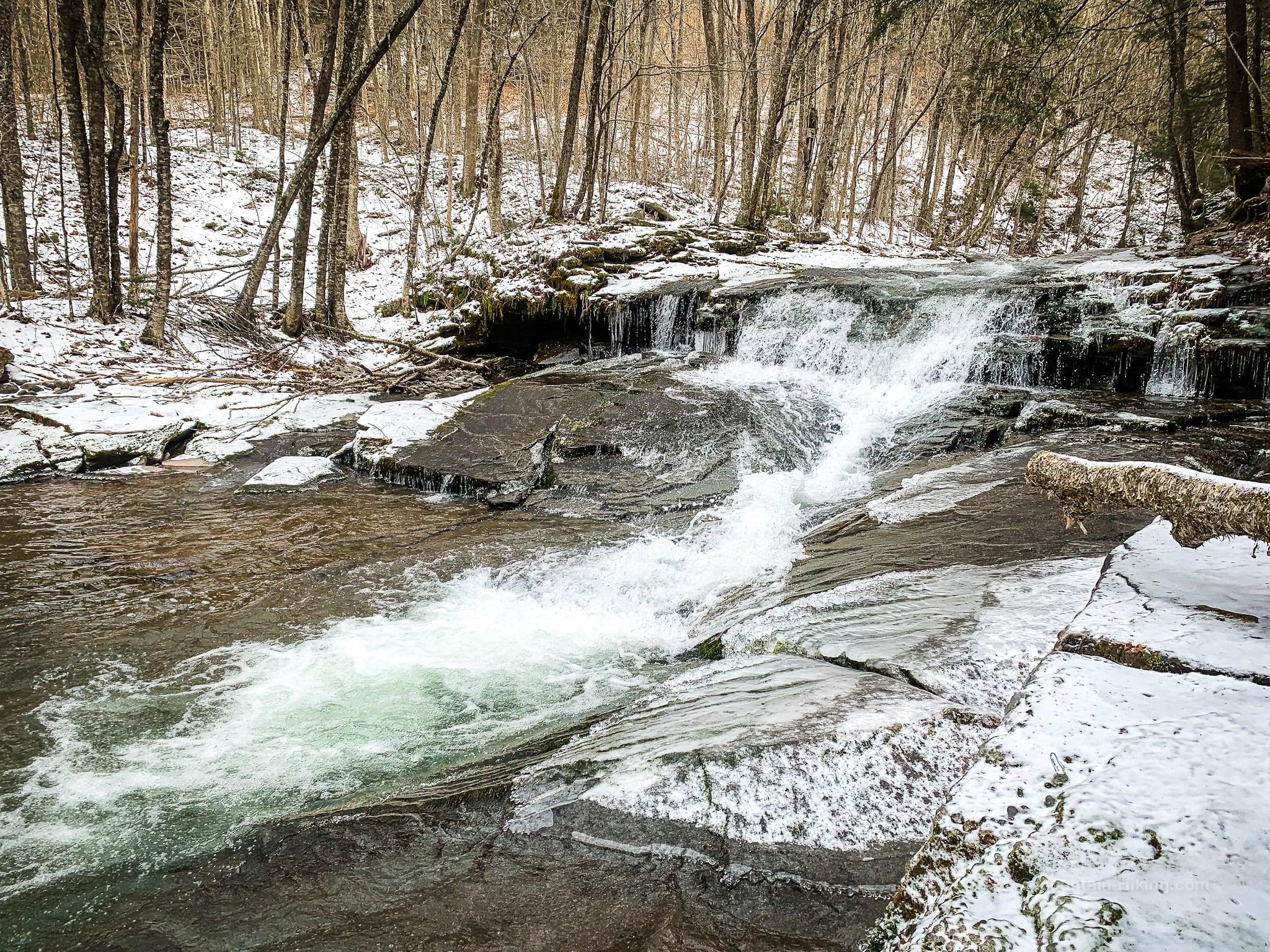 wintery waterfall