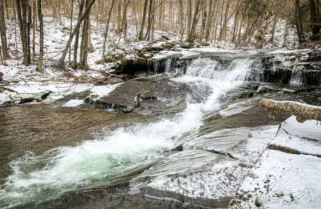 wintery waterfall