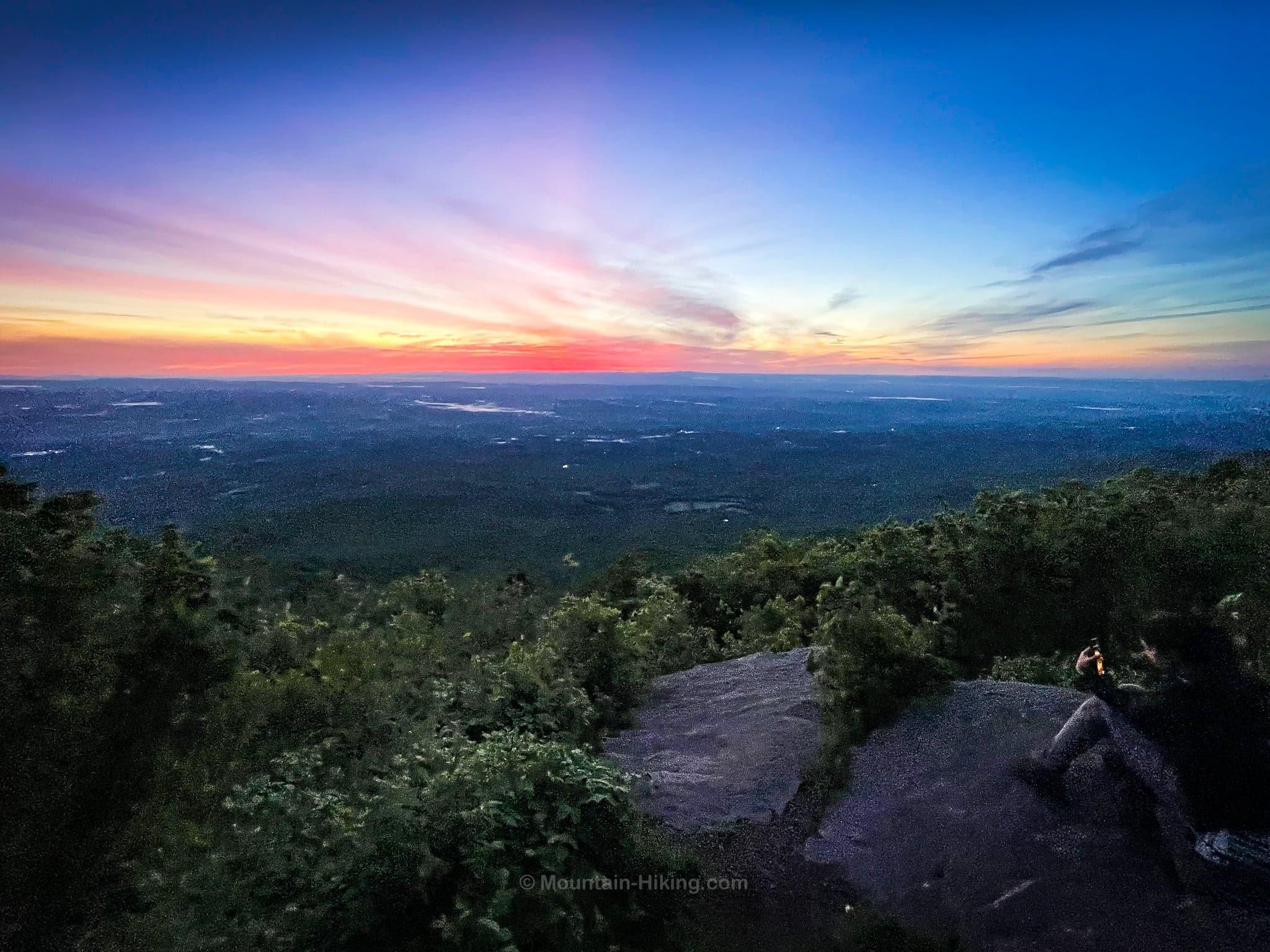 sky lit by pre-dawn sun