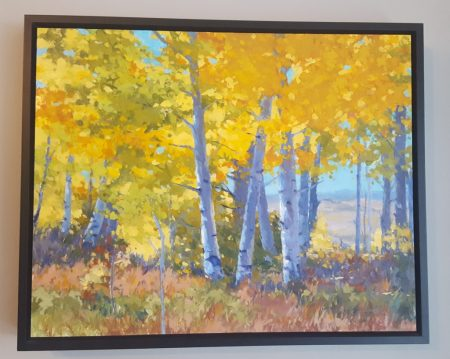 Artist painting of fall in Summit County