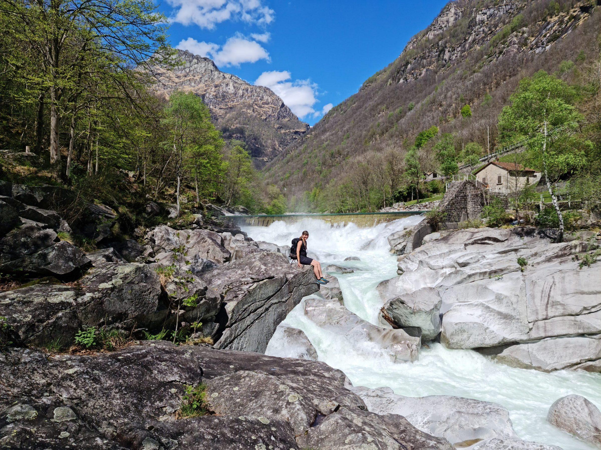 Meltwater rushing downstream