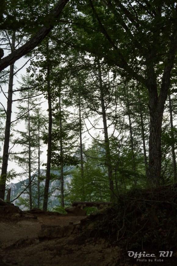 少し登ると瑞牆山が見える