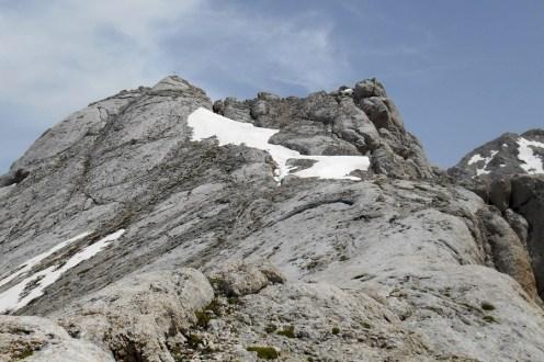 Close to the summit of Corno Piccolo