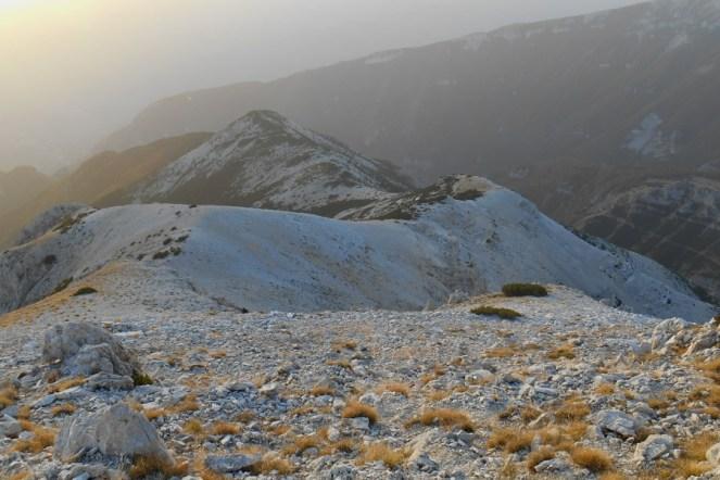 The ridge and Mt. Pizzone