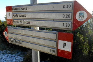 Signposting on the main trail (P)