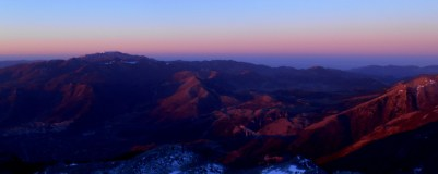 The Orsomarso range from Mt. Pollino, minutes before sunrise