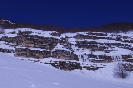 The iced ledge