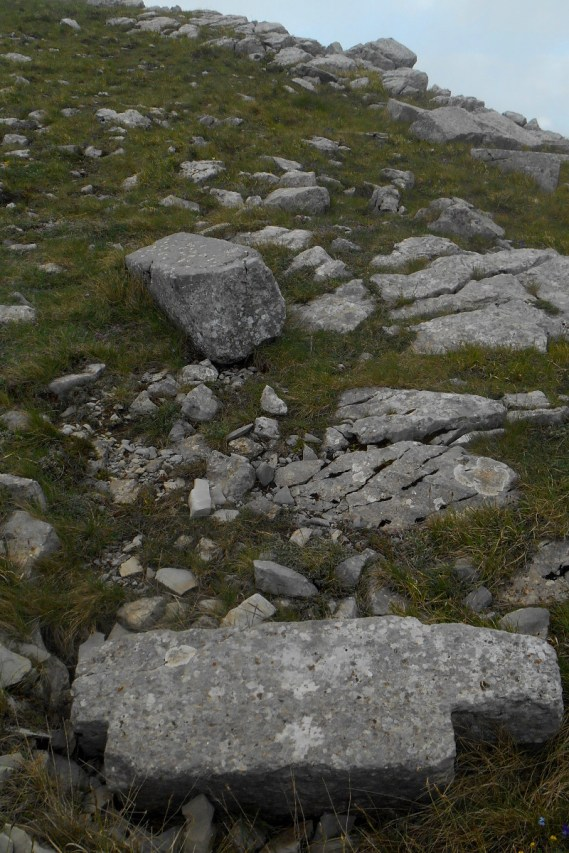 Remnants of acient greek edifice on Monte Manfriana