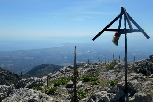 The Ionian Sea from the summit