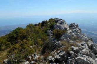 The summit ridge and the Ionian Sea