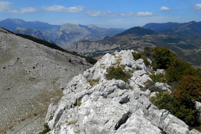 The summit ridge and Timpa di San Lorenzo