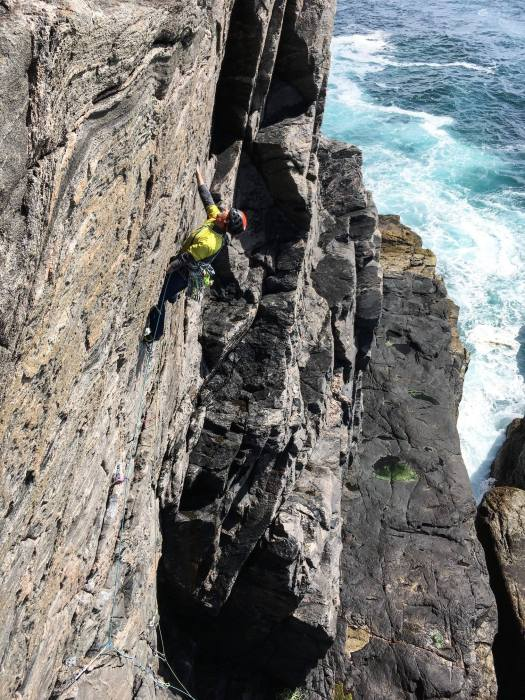 Rock Climbing - Pabbay, Outer Hebrides