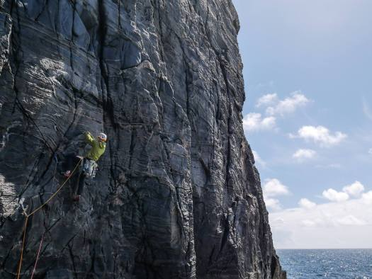 Rock Climbing - The Poop Deck, Pabbay