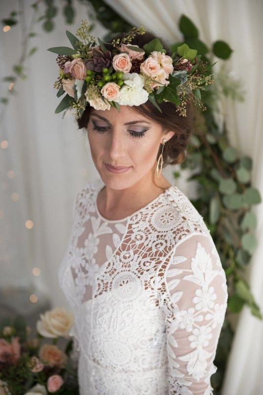 Elegant Country Photoshoot Mountain Bride