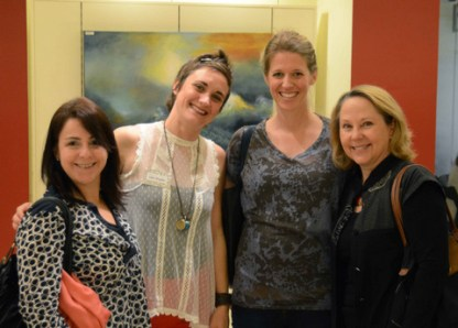 Past President Gayle Hurley (right) with new member Liza Snyder (2nd from left)