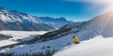 34283990 - girl in off-piste skiing