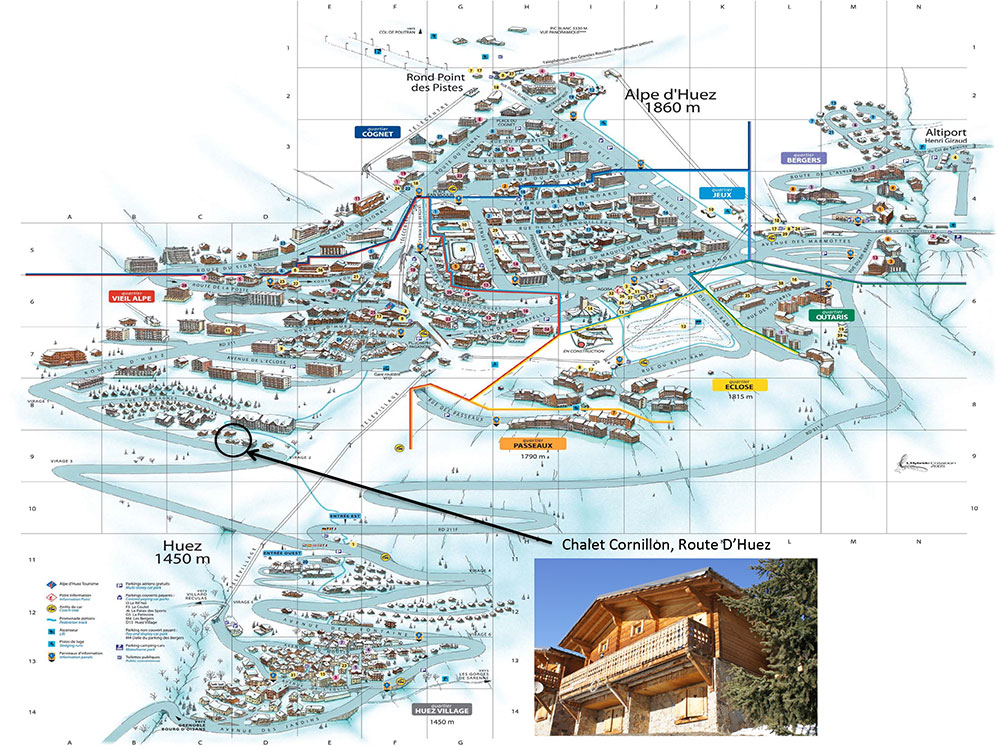 Chalet Cornillon Location on Resort Map - Chalet Cornillon   Holiday ...